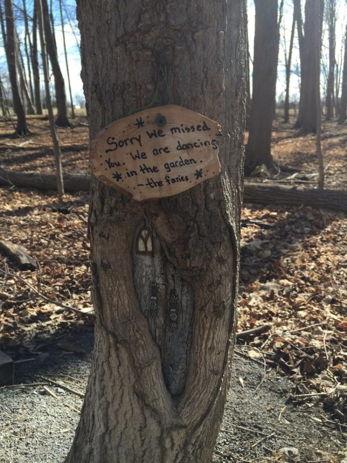 Before you leave you'll come across this adorable sign, left for you by the fairies.