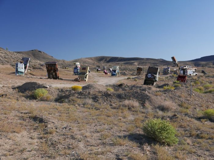 The installation was originally created by Goldfield resident, Mark Rippie.