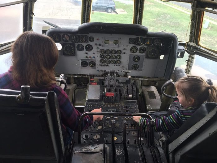 ...and access to a once-working cockpit, perfect for entertaining the littles in your party.