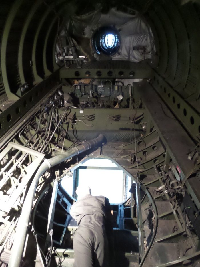 Did we mention that you can also access the back of the plane, where the refueling used to take place?