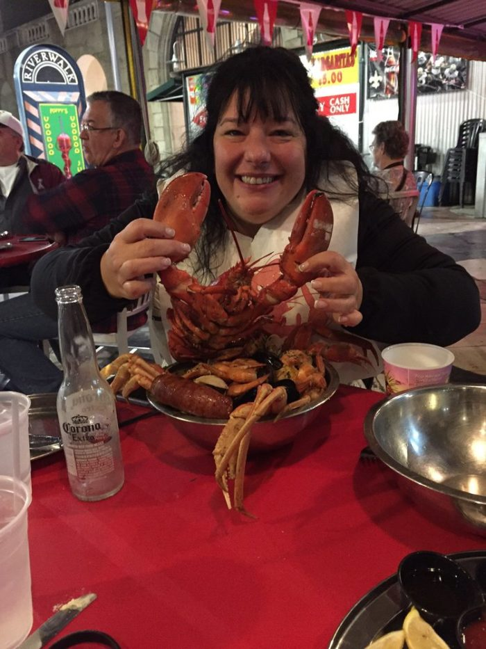 Lobsters can sometimes be hard to find in the New Orleans area but this restaurant has them in spades.