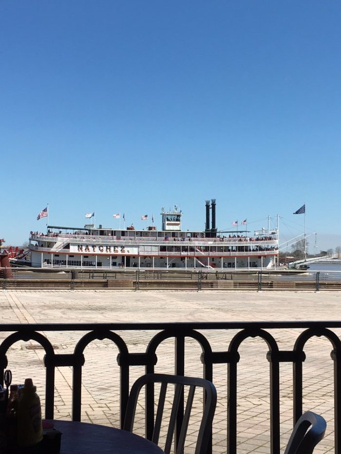 Diners there will be given front row seats to the variety of passenger and commercial vessels that float on by the river on a given day in New Orleans.