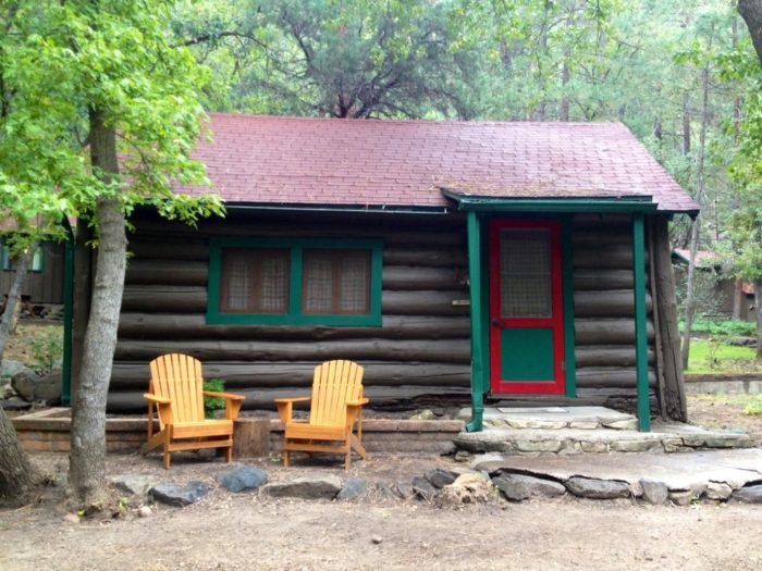 8 arizona cabins for an overnight stay for Cabins to rent in greer az