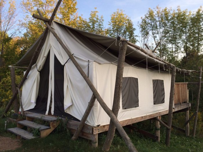 4. Spoil yourself and go glamping in Ithaca with Firelight Camps!