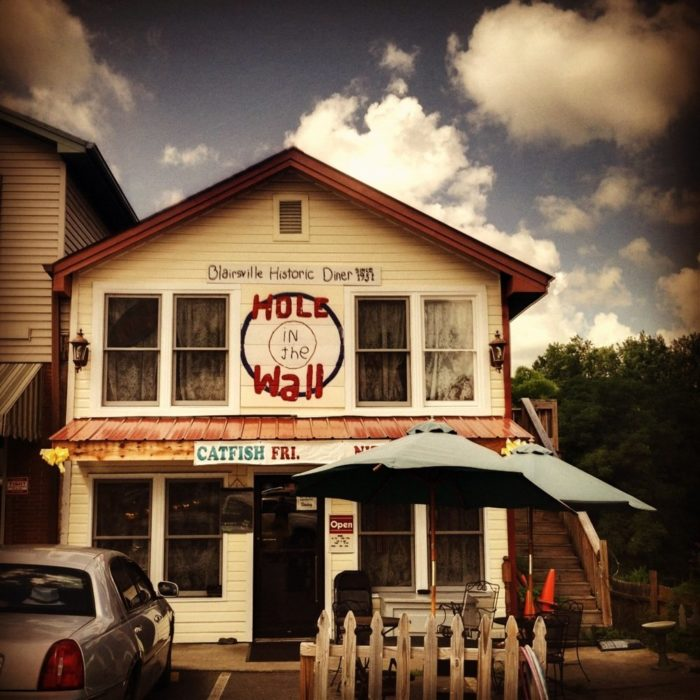 9. The Hole In the Wall— 90 Town Sq, Blairsville, GA 30516