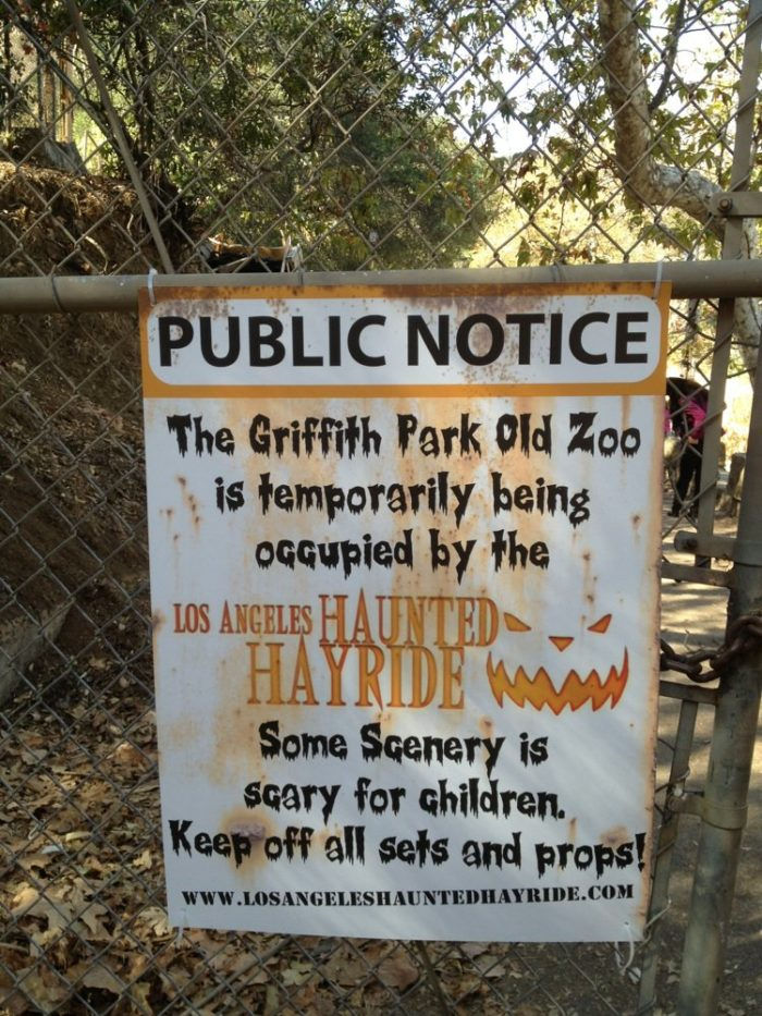 Or a haunted hayride. Because what good is an old zoo if you can't repurpose it?