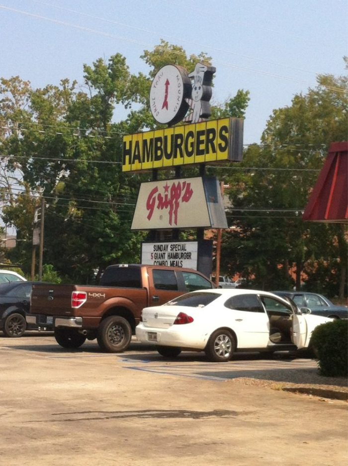 9. Griff's Hamburgers Restaurant, 815 W California Ave., Ruston