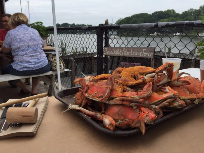 The restaurant offers incredibly fresh seafood, including Maryland blue crabs...
