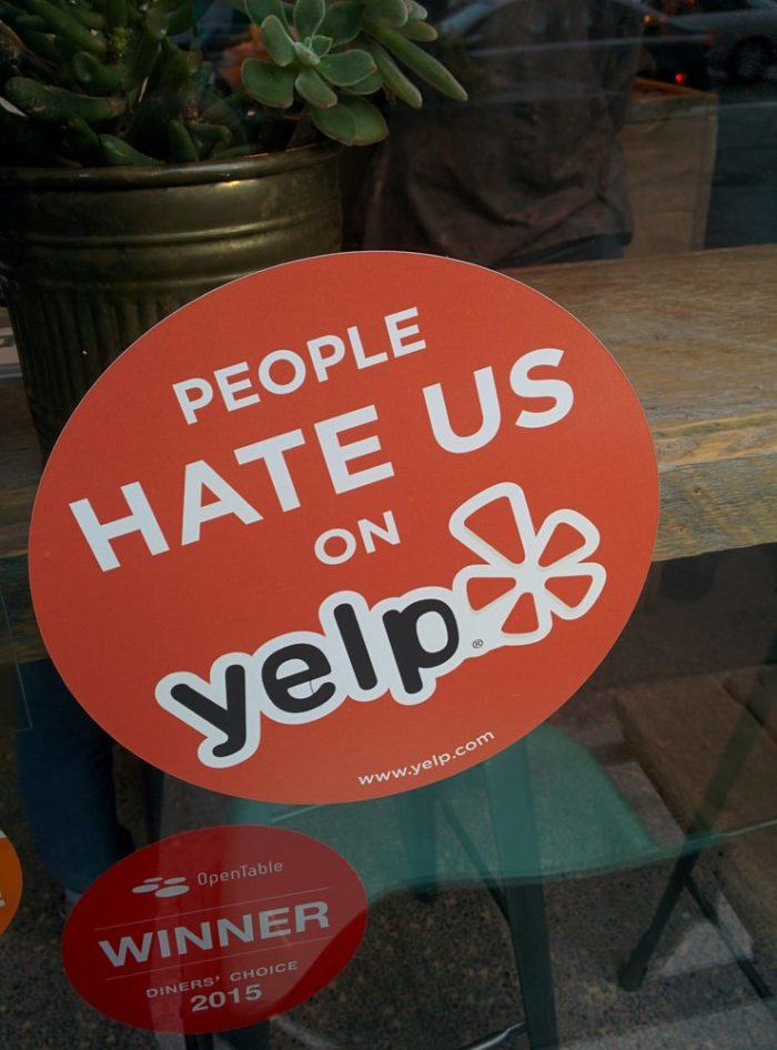 People hate them on Yelp? A blatant lie...Yelp reviewers give The Rest a solid four stars, with about 150 reviews. Sure, it's not for everyone, but most seem to like it.