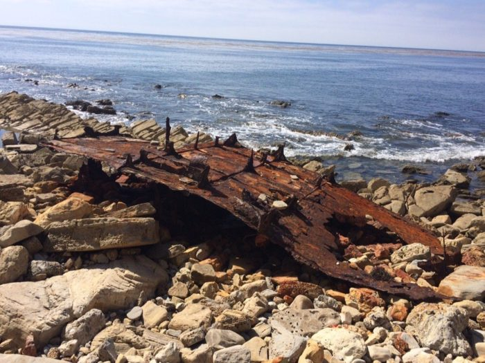 Take a look around and you'll see all sorts of rusted remnants from a freighter ship called the SS Dominator. The ship lost its way in the fog on its way to Los Angeles back in 1961 and ran ashore on the Palos Verdes Peninsula.