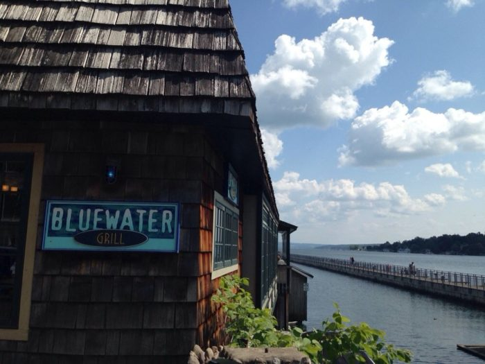 Feeling hungry? Don't let go of your views of the water, stop in and dine at the Blue Water Grill!