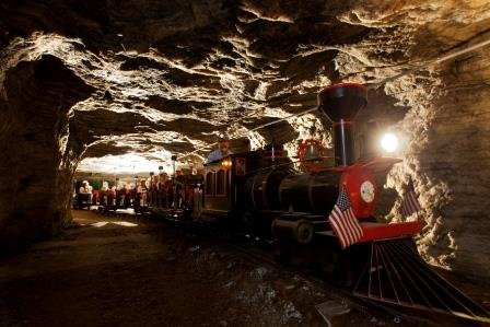 When you tour Strataca, there are several areas to see and different ways to see them! A few of the more popular attractions include the Salt Mine Express...