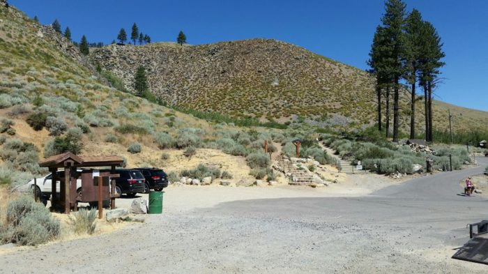 Once you park your car, you can take the time to read the informational signs posted around the trailhead.