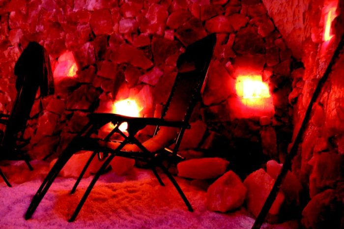 An exciting getaway like this can often feel draining, relax yourself at Ellicottville's Salt Cave And Halotherapy Spa.