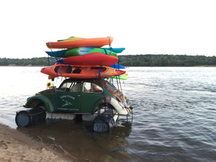 And the crazy VW Beetle from Tulsa Kayak.