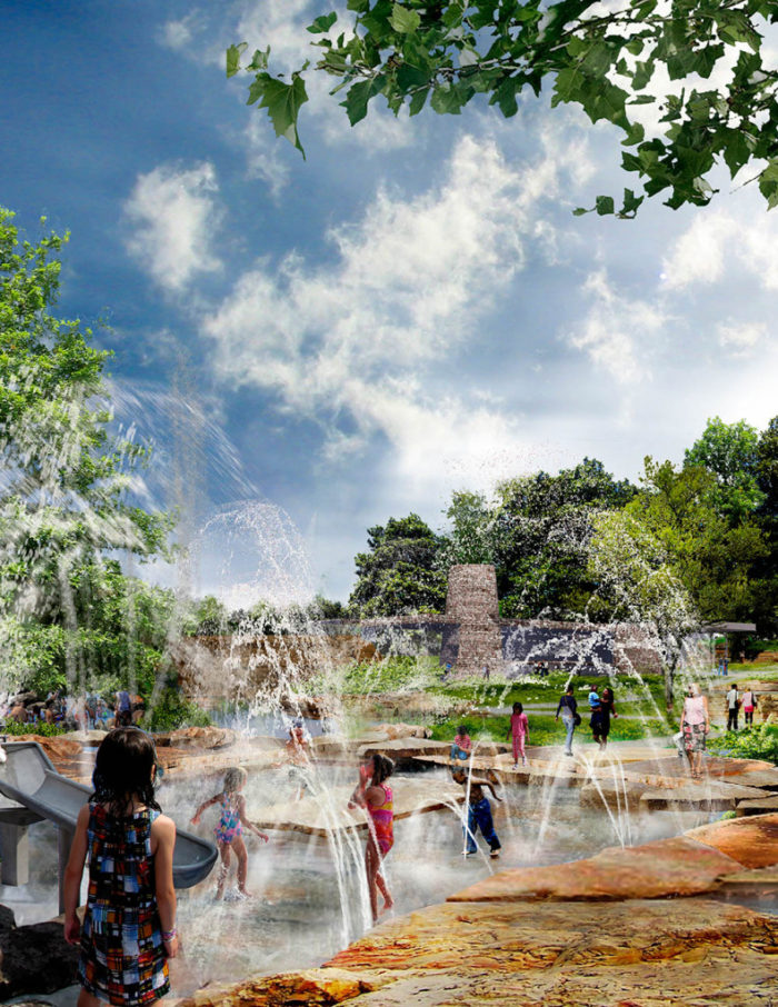 The Mist Mountain will be the perfect place to cool off in the summer heat. There will be a mist area, spray area, tunnels, streams and a water lab and plaza.