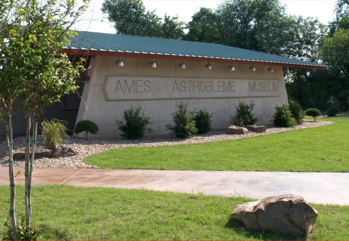 The Ames Astrobleme Museum is an open-air museum that educates the public on the cataclysmic event using videos, computer graphics, charts and more.