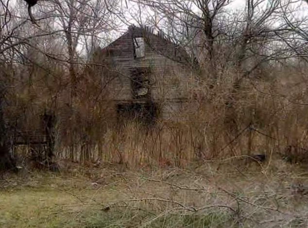 This is one of the dilapidated buildings withering away. Enter at your own risk!