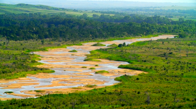 The Canadian River runs along the protected Four Canyon Preserve and not only provides a habitat for many species, but is a beautiful backdrop to the canyons.
