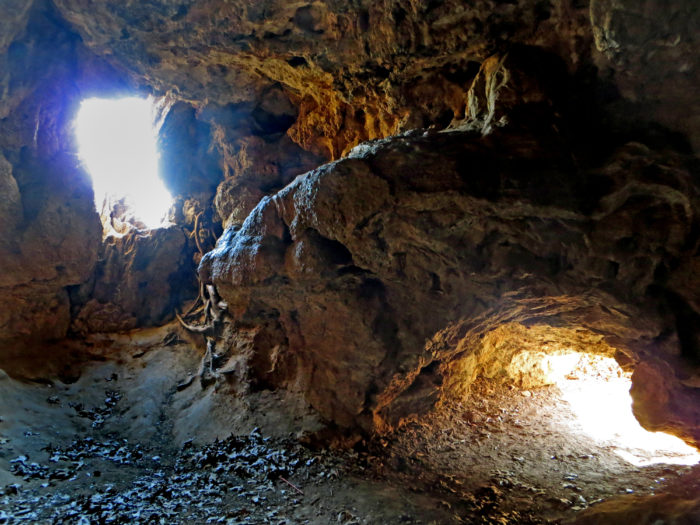The caves have tight spaces and can be dark, so don't forget your flashlight and hiking boots.