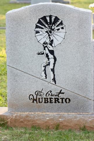 "The gravesite of ""The Great Huberto."""
