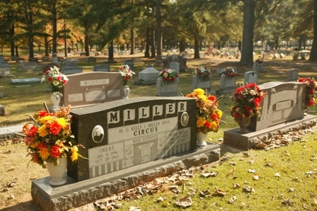"""The cemetery wants every circus performer to have a final resting place even if they can't afford it, because """"once you're in the circus, you are family."""""""