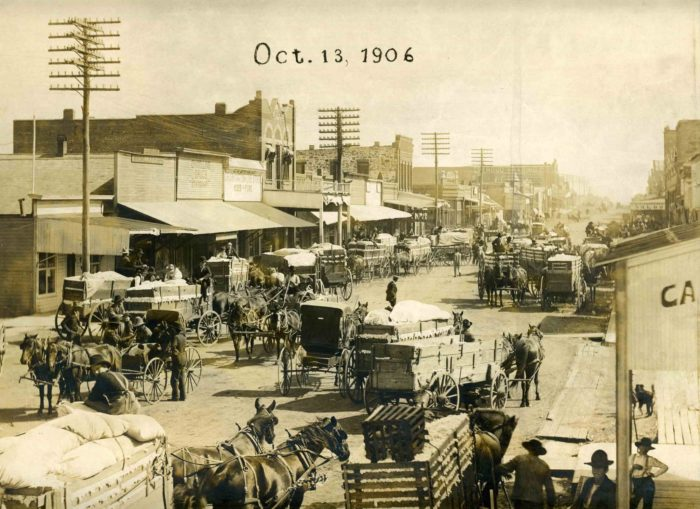 """16. Modern day Stroud, Oklahoma, 1906. Prior to 1907 statehood, it was one of Oklahoma Territory's notorious """"whiskey towns."""""""