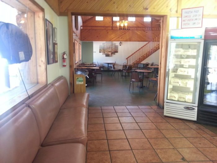 The inside can accommodate visitors waiting for to-go orders, or they offer a full dining room for those looking to sit down.