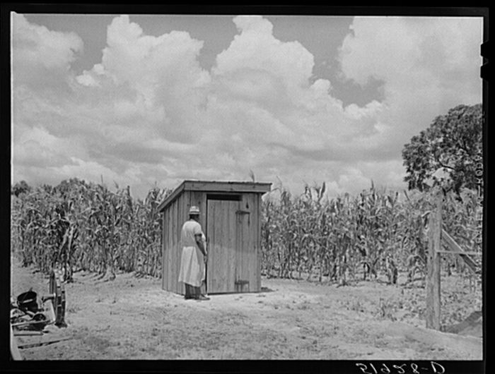 12. Outhouses.