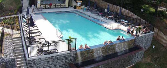 the bavarian inn in west virginia has an amazing infinity pool