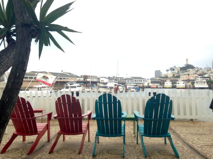 Or chill out on the bayside patio.