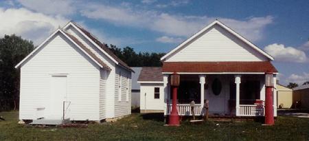 14. Cracker Box School (on the left), Pawnee City