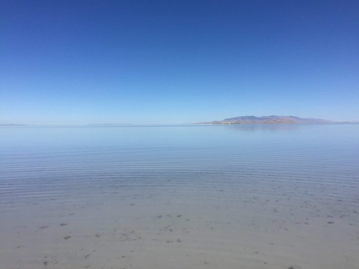 The beach is a great place to play and cool off during your visit to Antelope Island.