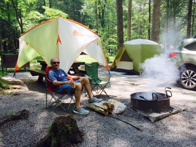 Camp overnight at one of 70 tent sites or 67 RV sites.
