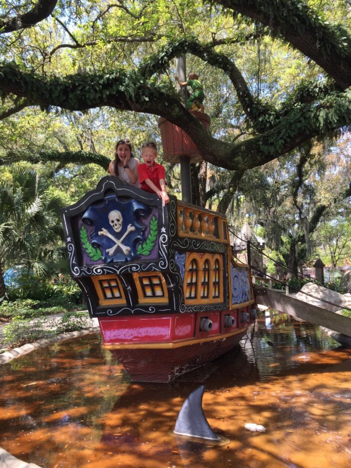 Take a ride on Captain Hook's Pirate Ship...