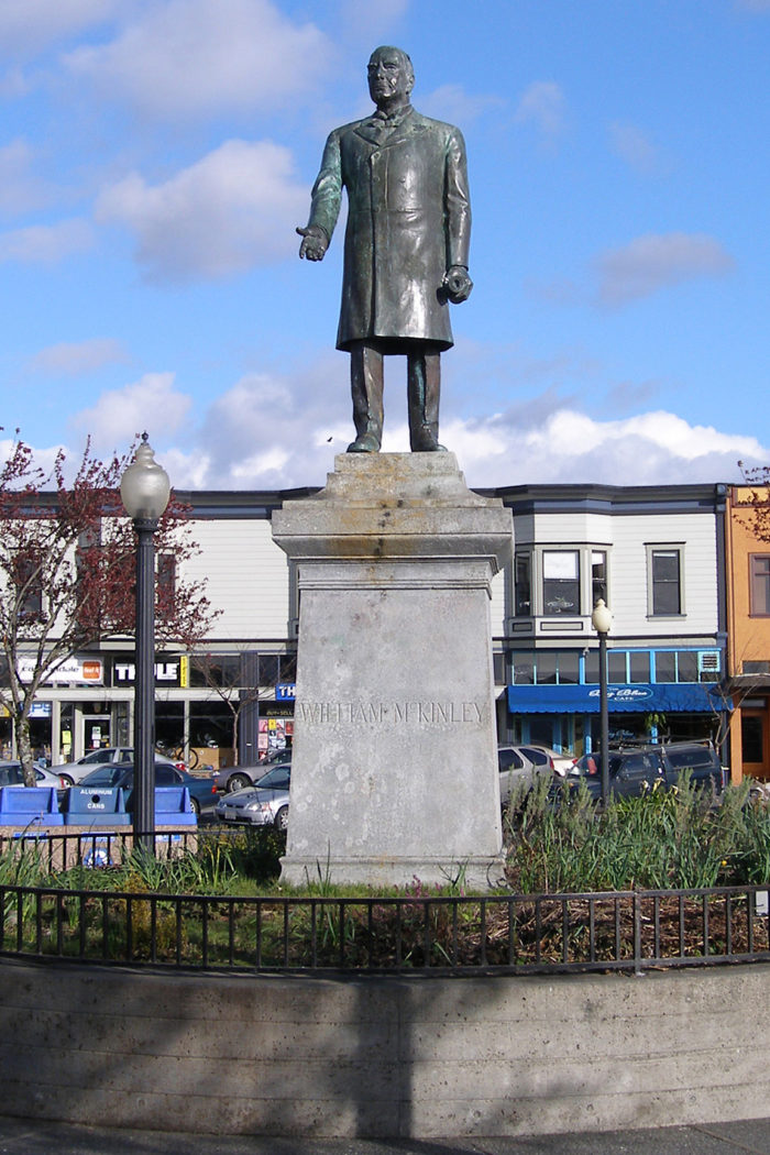 8. Unloved Statue of President McKinley, Arcata