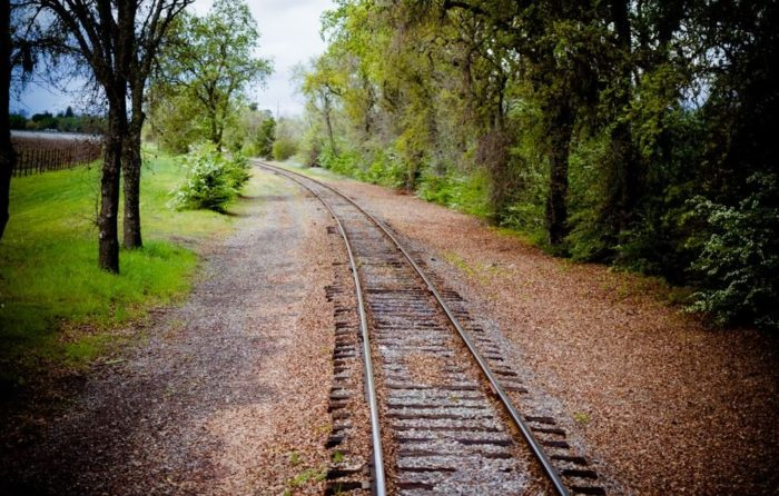 The rail line, which now runs alongside Highway 29, was originally built in 1864 to take people up to the resort town of Calistoga.