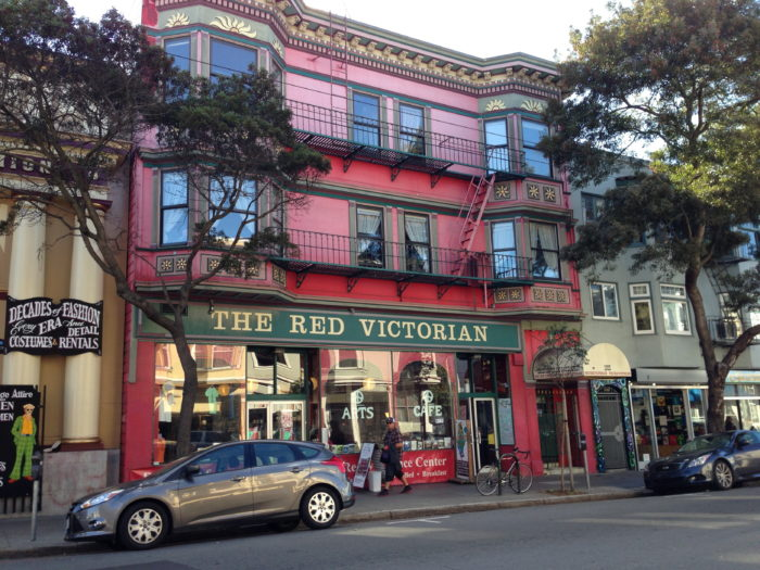 3. The Red Victorian Commune & Hotel: 1665 Haight Street