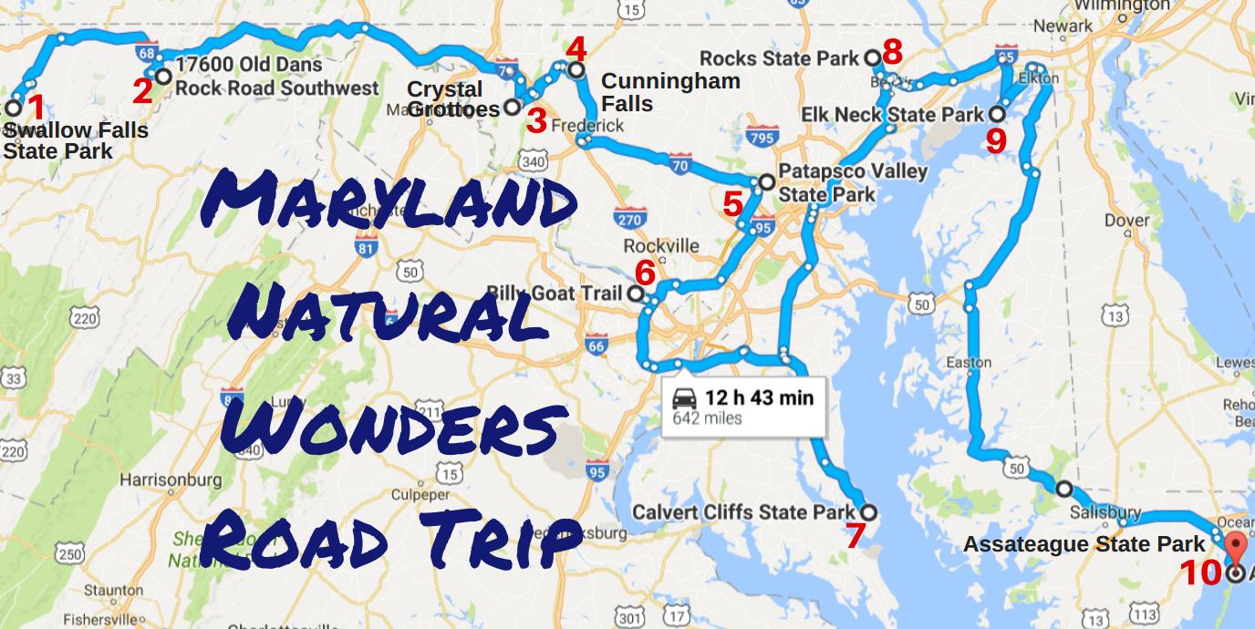 Amazing Maryland Natural Wonders Road Trip