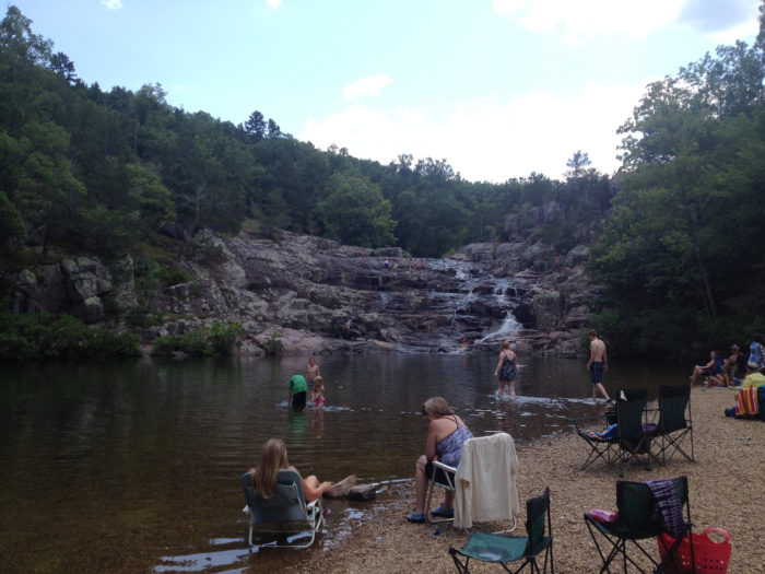 The National Park Service owns this land and maintains a picnic area and a gravel parking lot for access to this amazing spot near Eminence, Missouri. A pit toilet is also nearby.