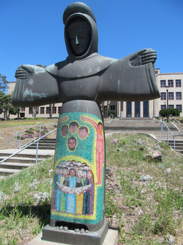3. St. Francis made of melted guns. San Francisco Community College