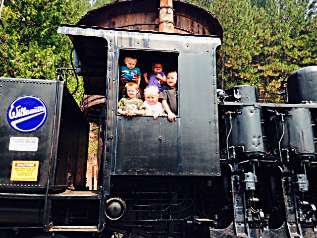 Come see their 1927 Willamette Shay Steam Driven Locomotive!