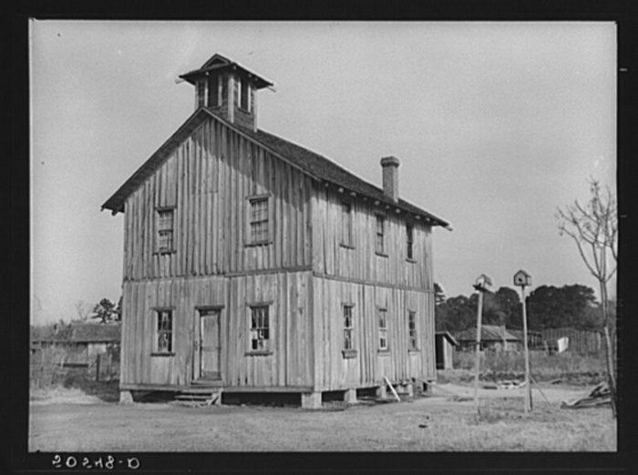 5. Most small towns had at least a small schoolhouse. This one at Camp Croft was rather large.