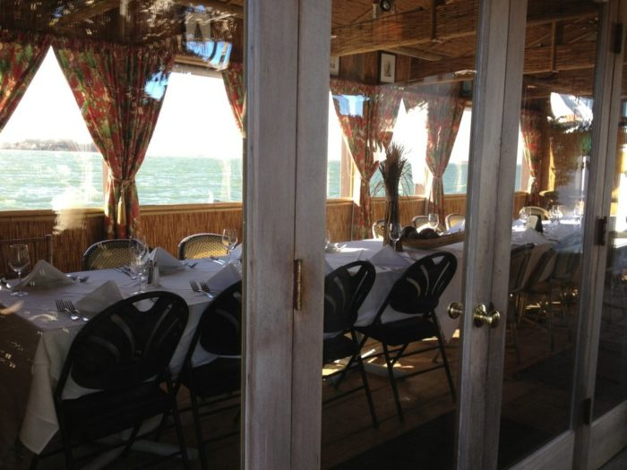 If that makes you a bit queasy, you can enjoy your meal above the bay as well.