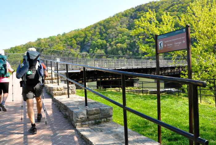 From Virginia, the Appalachian Trail crosses a bridge over the Shenandoah River.