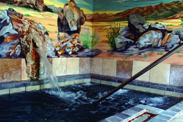 For a soak accompanied by a full spa experience, head to Sierra Grande Lodge and Spa, which offers private baths and all the body treatments and massage services you could want (501 McAdoo Street).