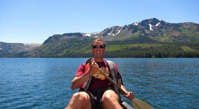 12. Canoe on Fallen Leaf Lake in South Lake Tahoe.