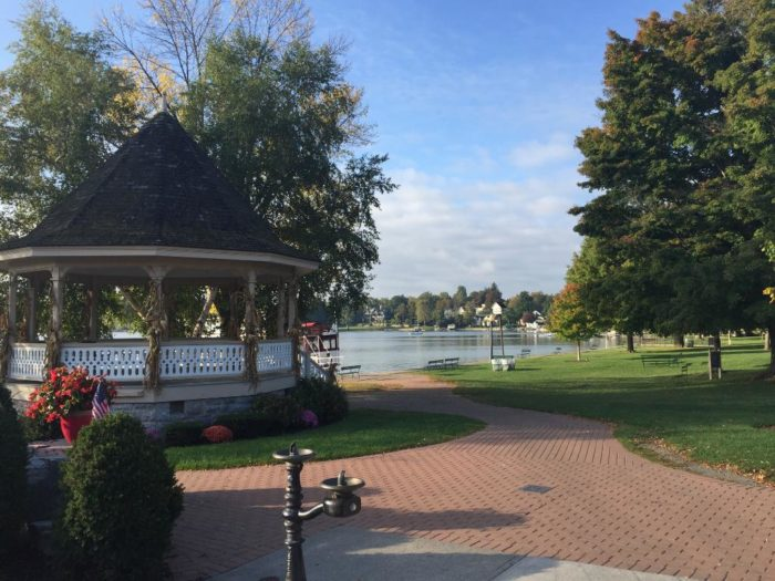 Pictured below you can see Clift Park and it's welcoming gazebo!