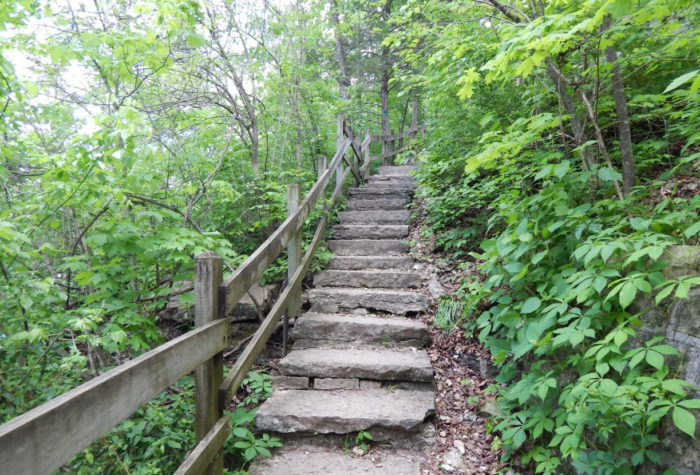 Among other things, Roaring River State Park offers ample opportunity for hiking...