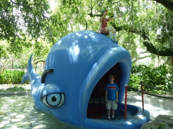 You can play inside Pinocchio's Whale...